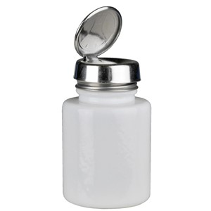 35387-ONE-TOUCH, SS, ROUND 4OZ WHITE GLASS,