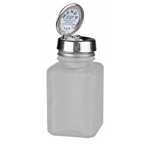 35576-PURE-TOUCH, SS, SQUARE, GLASS CLEAR FROSTED, 4 OZ