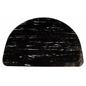 35947-MAT, ANTI-FATIGUE, RUBBER TOP, BLK/WHT,HALF-CIR,1/2INx3FTx4FT