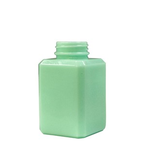 BOTTLE ONLY SQUARE, RETRO MINT GLASS, 6 OZ