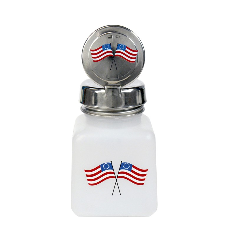 34421-ONE-TOUCH, 4 OZ, NATURAL, W/INDEPENDENCE DAY FLAG DESIGN