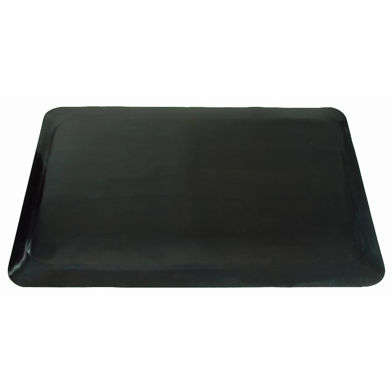 35997-MAT, ANTI-FATIGUE, SOLID BLACK, 1/2 IN x 2 FT x 3 FT